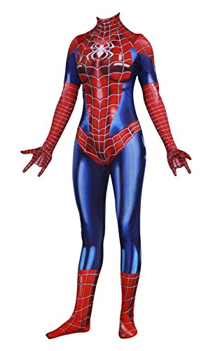 - 411gK7VMhzL - Rieknic Womens Superhero Spandex Zentai Halloween Cosplay Costumes Adult/Kids