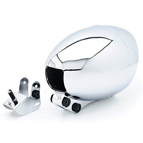 Krator Motorcycle Custom Chrome Headlight Head Light For Kawasaki Vulcan Classic Custom 900
