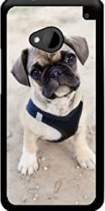 Funda para Htc One M7 - Lindo Cachorro Pug by Carsten Reisinger