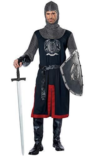 California Costumes Men's Dragon Knight-Adult Costume, Black/Red, Small/Medium