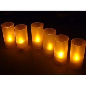 あら不思議! ゆらぐ 自然な灯り LED キャンドル ライト 6個セット