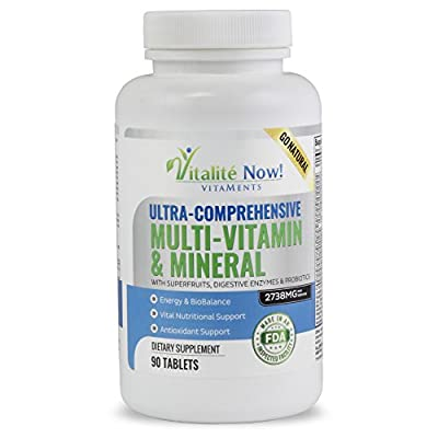 Daily Multivitamin and Mineral - With 110 SuperFoods, Herbs, Greens & Reds plus Enzymes & Probiotics for Immune Support – Feel Great Energy Boost!