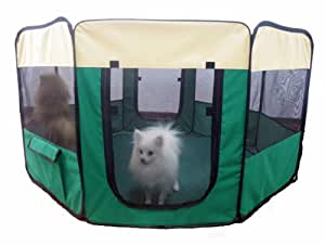 "Pet Dog Play Pen Large 49"" Tent Puppy Cat Exercise Pen Soft Play Yard Kennel Dog Crate Cage Zipped Bottom Panel"