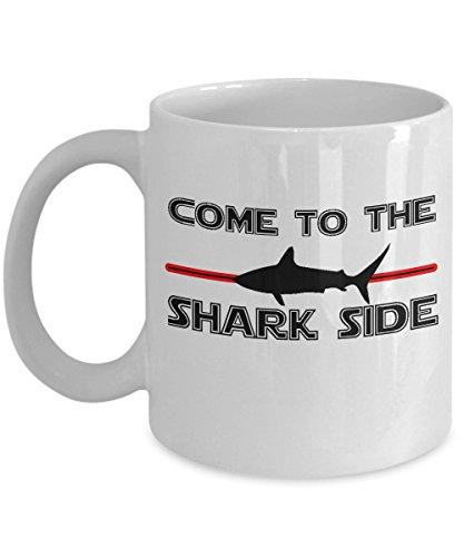 Shark Week Costume Makeup (Great White Shark Side Funny Mug)