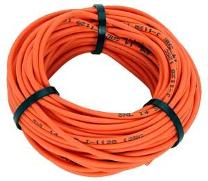 JEGS Performance Products 10804 14-Gauge Premium Automotive Wire (Orange Wire)