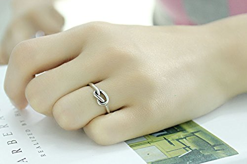 Generic Ring opening retro s925 silver diamond single junction lines Thai silver ring finger ring Korean fashion jewelry by Generic