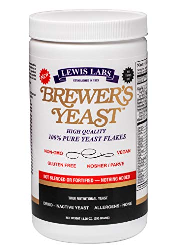 Lewis Labs Brewers Yeast - Lewis Labs Brewer's Yeast Flakes Powder, 12.35 Ounce