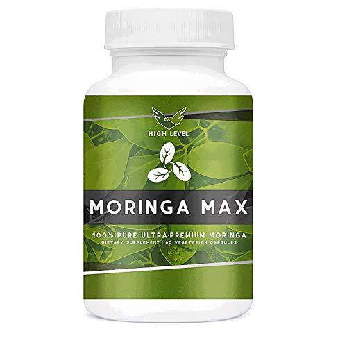 High Level Ultra Premium 100% Pure Moringa Oleifera Leaf | 60 Vegetarian Capsules | 800mg Per Serving | Antioxidant Green Superfood | Miracle Tree | 100% Natural, Made in USA | Energy, Immunity, Detox