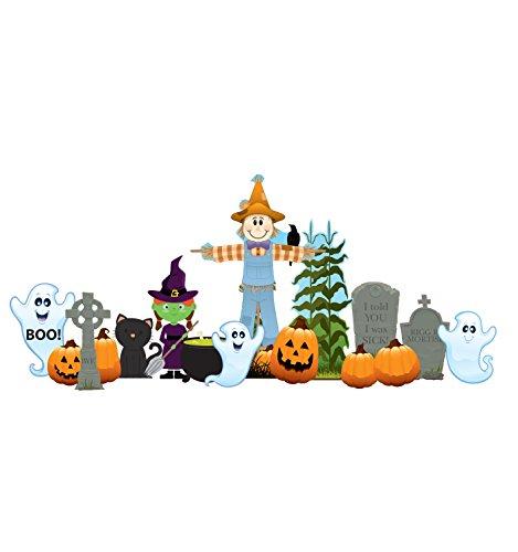 Advanced Graphics Friendly Halloween Theme Outdoor Yard Sign Set
