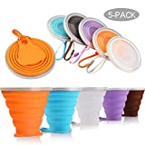Collapsible Travel Cup, BPA Free Silicone Mug Water Coffee, for Camping