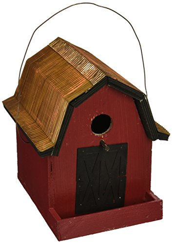 Birdhouse Little Red Barn - Songbird Essentials 008115 Little Red Barn Birdhouse, Red/Copper Roof
