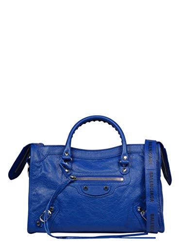 Strap Handbag Balenciaga - Balenciaga Women's 431621Db5xn4260 Blue Leather Handbag