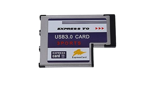 Semoic 3 USB 3.0 Puerto expreso Tarjeta 54mm PCMCIA Express ...