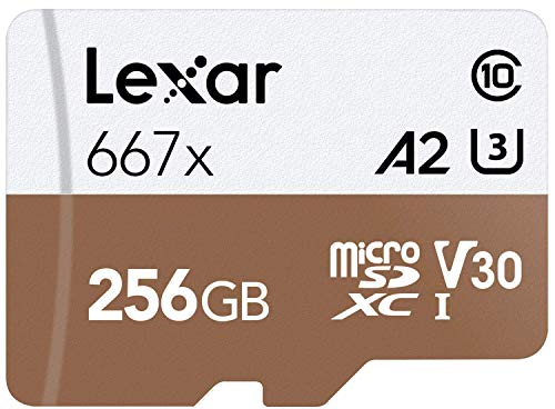 Lexar Professional 667x 256GB microSDXC UHS-I/U3 Card (LSDMI256BNA667A)