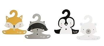 Waschb/är und Fuchs A Little Lovely Company Kleiderb/ügel f/ür Kinder Pinguin Eisb/är