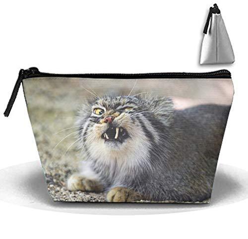 Multi-functional Animal Pallas Cats Makeup Bag/Travel Cosmetic Bags/Toilet Bag Portable ()