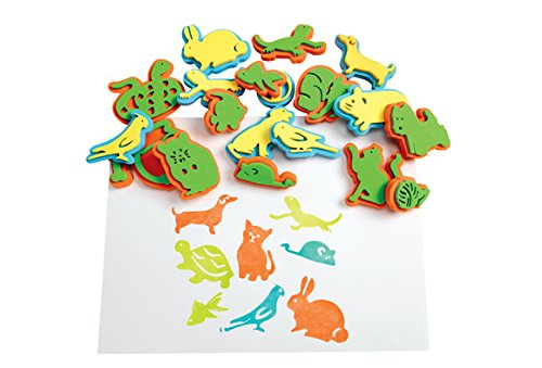 Colorations Super Value Stampers, Playful Pets - Set of 30 (Item # PETSTAMP) (Chunky Foam Stamp)
