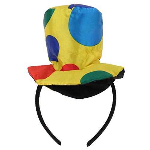 Clown Hat Headband Jumbo Polka Dots Headwear for Halloween, Carnival, Circus Costume Props - A]()