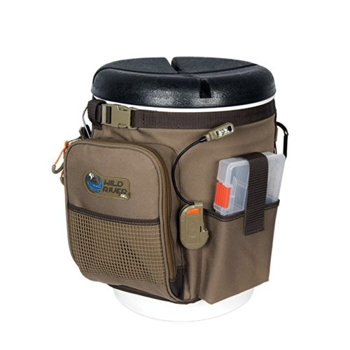 Wild River RIGGER 5 Gallon Bucket Organizer With Lights, Plier Holder and Lanyard, 2 PT3500 Trays and Bucket With Seat
