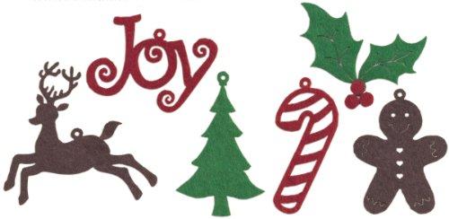 CREATIVE IMPRESSIONS Felt Shape Assortment 30/Pkg-Christmas