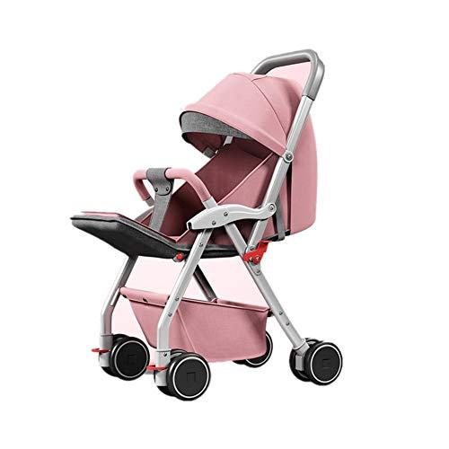 REMTI Sillas de paseo El altocochecito de bebe de lavisionsienta lamentira de laluz quedobla elcarro de bebe decuatro ruedas delbebe, po