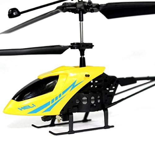 SQSAY RC Mini Helicopter 901 2CH Radio Remote Control Aircraft Toy Micro 2 Channel (Yellow/Red),Red