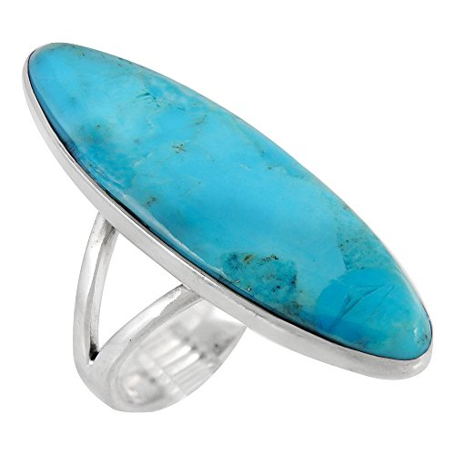 Turquoise Ring Sterling Silver (PICK COLOR) (Turquoise, 7)