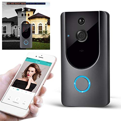 LEANO M2 Wireless Visual Smart Doorbell Alarm WiFi Mobile Phone Remote Monitoring Kits (Phone Visual Door)