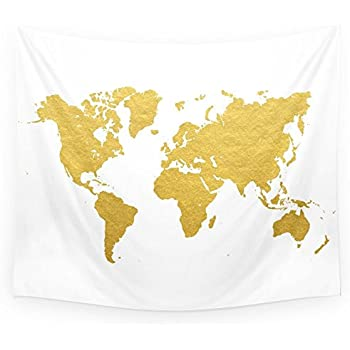 Amazon society6 gold world map wall tapestry small 51 x 60 society6 gold world map wall tapestry small 51 gumiabroncs Choice Image