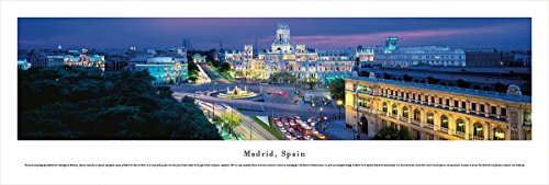 Madrid, Spain at Twilight - Blakeway Panoramas Unframed Skyline Posters by Blakeway Worldwide Panoramas