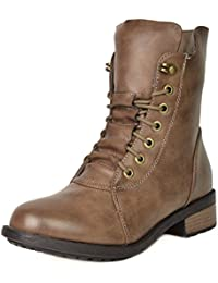 Women's Mid Calf Military Combat Boots