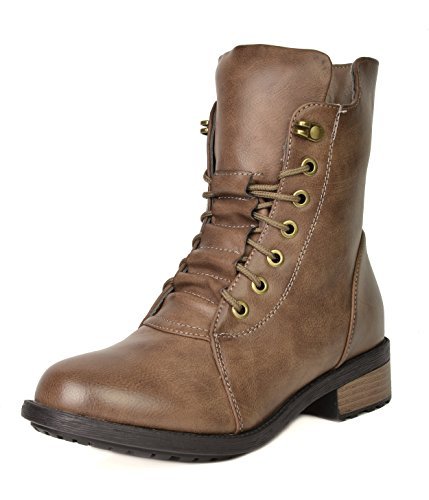 Pairs Calf Military Mid Boots Women's Combat Khaki Panther Dream OxdqOH