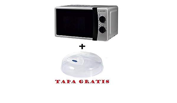Microondas Jocel JMO011145, 20 L, 800 W, Silver + tapa para micro ...