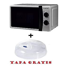 Microondas Jocel JMO011145, 20 L, 800 W, Silver + tapa para ...