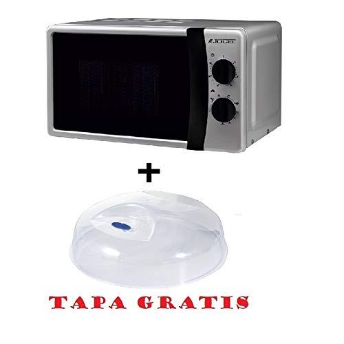 Microondas Jocel JMO011145, 20 L, 800 W, Silver + tapa ...