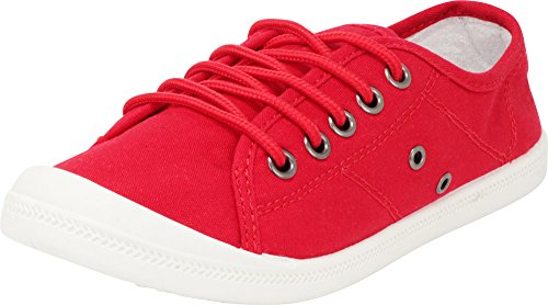 Select Classic Red up Canvas Women's Low Top Lace Cambridge Sneaker Fashion Casual dZwqW1Fadx