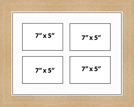 Kwik Picture Framing | MULTI APERTURE PHOTO FRAME FITS 4 7x5 PHOTOS ...