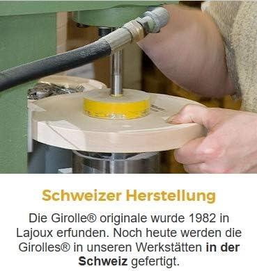 GLASGLOCKE FÜR TETE DE MOINE CHOCO ROLLES//ROULETTE SWISS MADE Girolle Schweiz SET ORIGINAL LA GIROLLE AHORN-HOLZ KÄSEHOBEL