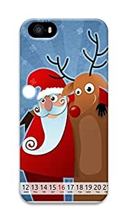 Case For Iphone 6 Plus 5.5 Inch Cover Lovely Santa Claus 3D Custom Case For Iphone 6 Plus 5.5 Inch Cover