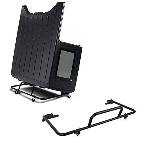 u-Box Jeep Wrangler Hard Top Carrier Storage Cart Rack Sliding in Black for Jeep Wrangler YJ TJ JK JL