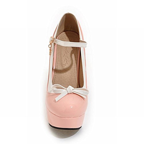 Carolbar Womens Bows Lolita Cosplay Platform High Heel Mary Janes Pumps Shoes Pink thFbHFfn