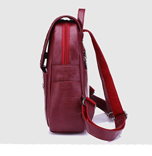 LAIDAYE Bolso De Hombro Bolsos De Moda De Ocio De Gran Capacidad Bolsa De Mochila Diagonal Red