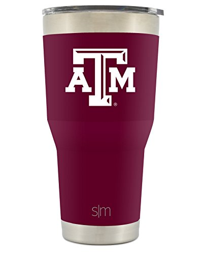 Simple Modern Texas A&M University 30oz Cruiser Tumbler - Vacuum Insulated Stainless Steel Travel Mug - TAMU Aggies Gig Em Tailgating Hydro Cup College (University Logo Water Bottle)