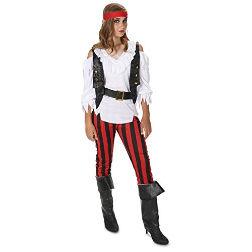 Rebel Pirate Girl Child Costume L (12-14) (Pirate Halloween Costume Outfit)