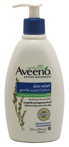 - Aveeno Skin Relief Moisturizing Lotion with Chamomile Scent & Triple Oat Complex, Dimethicone Skin Protectant for Sensitive & Extra-Dry Itchy Skin, 12 fl. oz (Pack of 2)