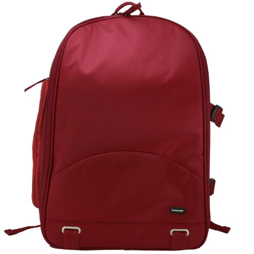 Filemate 3FMCG220RD2-R ECO Deluxe SLR Camera Backpack (Red Camera Backpack)