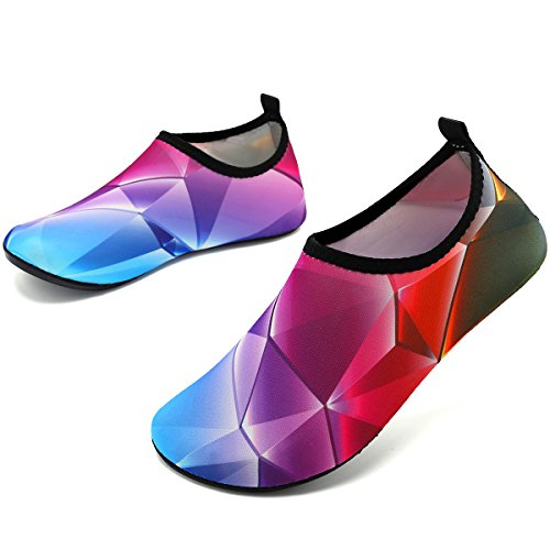 for Men Unisex Purple VIFUUR Aqua Quick Yoga Cube Women Shoes Drying Pool Blue Beach Water Exercise Shoes Pw7H1q