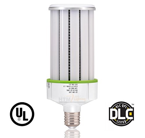120W Frosted LED Corn Light Bulb (400-600 Watts Metal Halide/HPS Replacement), Large E39 Mogul Screw Base, UL-Listed, High Bay Lighting, Wall pack Lighting (6000K Daylight White) by HTM Lighting Solutions