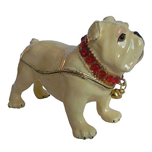 - Jiaheyou Dog Jeweled Trinket Jewelry Box Dog Figurine Statue Metal Craft Pet Lover Gifts