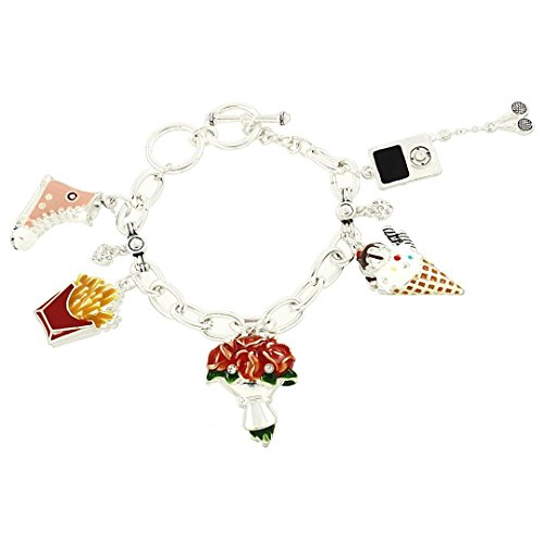 Mixed Charm Bracelet Z8 Crystal Sneaker Ice Cream Flowers MP3 Player Luxury (Mp3 Player Charm)